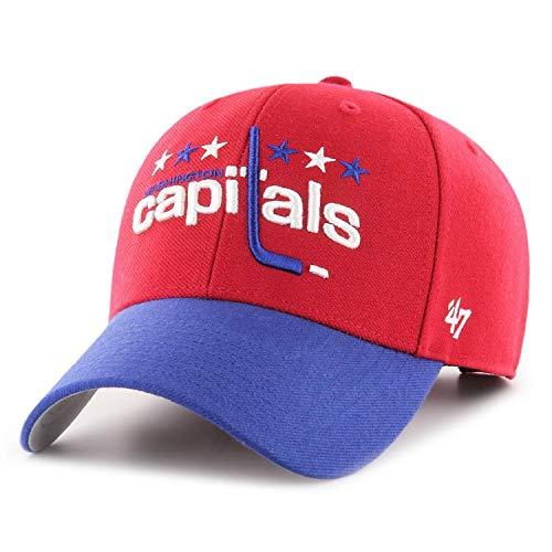47 Brand Forty Seven Washington Capitals NHL Vintage Logo MVP Curved Visor Velcroback Cap Limited Edition