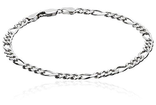 amazon collection inspired silver bracelets Men's Sterling Silver Italian Link Bracelet