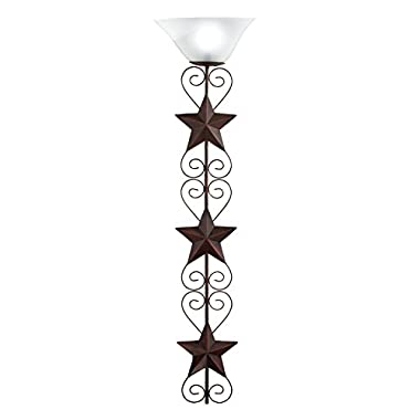 Battery Operated LED Star Wall Art Lamp with Remote Control, Brown