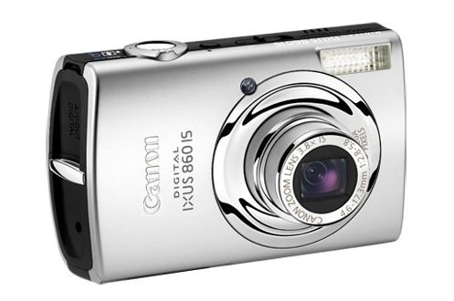 Canon Digital IXUS 860 IS Digitalkamera (8 MP, 3, 8-fach Zoom, 7,6cm (3 Zoll) Display, Bildstabilisator) silber/schwarz