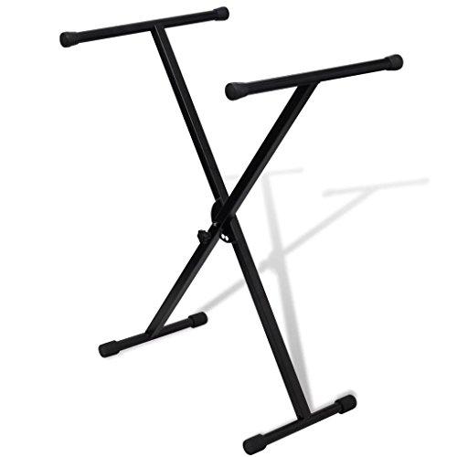 vidaXL Einzeln Keyboardständer X-Form Stativ Keyboardstativ E-Piano Halter Rack