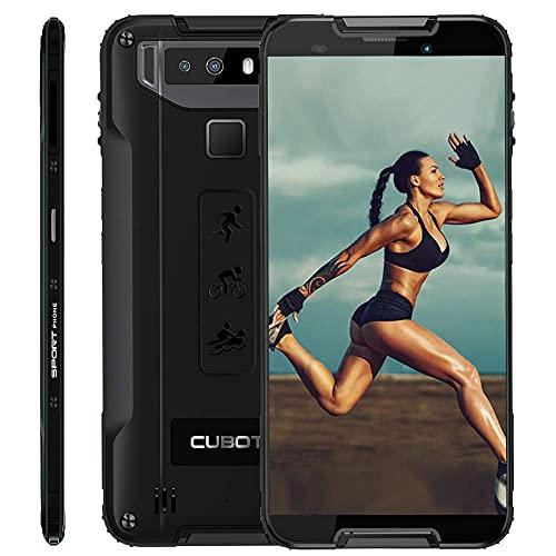 CUBOT Quest 4G IP68 Móvil Libre Smartphone Robusto Android 9.0 4GB+64GB 5.5 Pulgadas Android Dual SIM Quad-Core Dual Cámara 12Mp 4000mAh Botón Personaliado NFC Type-C Negro (Reacondicionado)