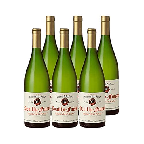 Pouilly-Fuissé Autour de la Roche Blanc 2017 - Domaine J.A. Ferret - Vin AOC Blanc de Bourgogne - Lot de 6x75cl - Cépage Chardonnay