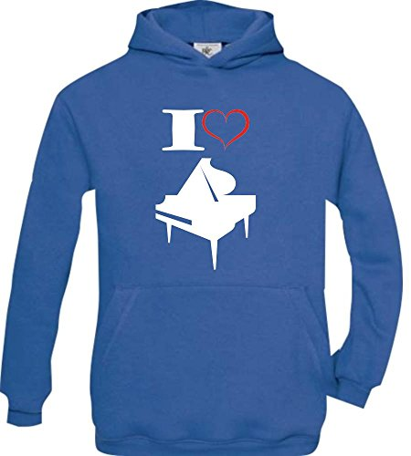 Shirtstown - Sweat-shirt à capuche - Col Rond - Manches Longues - Garçon - bleu - 14 ans