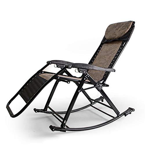 Hzlsy Tuinschommelstoel, schommelstoel, inklapbaar, weerbestendig weefsel, stalen frame, belastbaar tot 250 kg