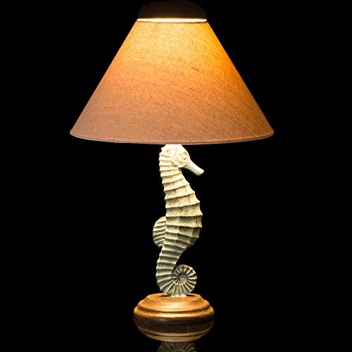 Traditional Table Lamp Wooden Base with Neutral Lampshade