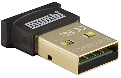 mumbi Nano USB Bluetooth Dongle 4.0 für Windows 10/8 / 7 / Vista/XP, Plug & Play, Reichweite 20-50m