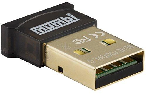 mumbi Nano USB Bluetooth Dongle 4.0 für Windows 10/8 / 7 / Vista/XP, Plug & Play, Reichweite 20-50m