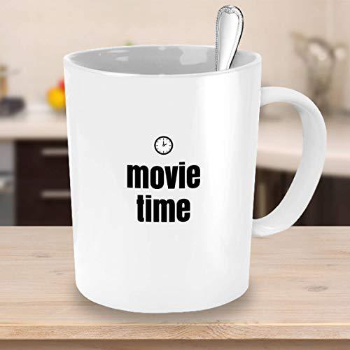 Ad4ssdu4 Tijd voor koffiemok, Movie Time Movie Mok, collega's, cadeau, koffie, cadeautjes, cadeaus voor hem cadeau voor jongeren, vriend, mok