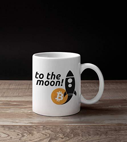 N\A Bitcoin Rocket To The Moon Crypto Lover Taza de té de café de cerámica por Encargo