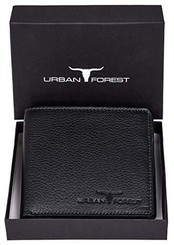 URBAN FOREST Leather Men's Wallet (UBF130BLK1022_Black)