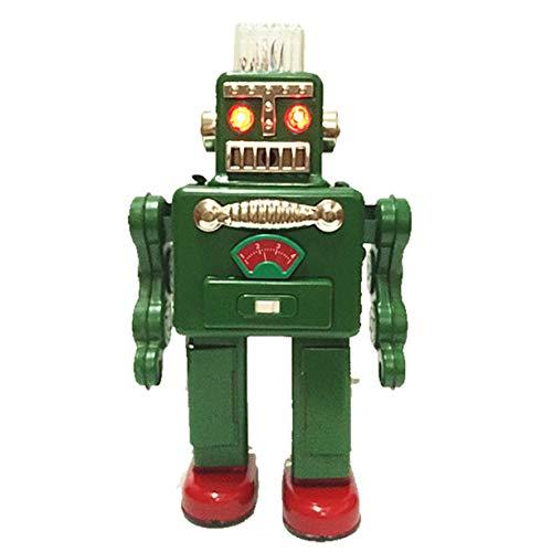 tr2011 fumer Spaceman Robot étain Jouet Fonctionnement à piles Robot Rétro