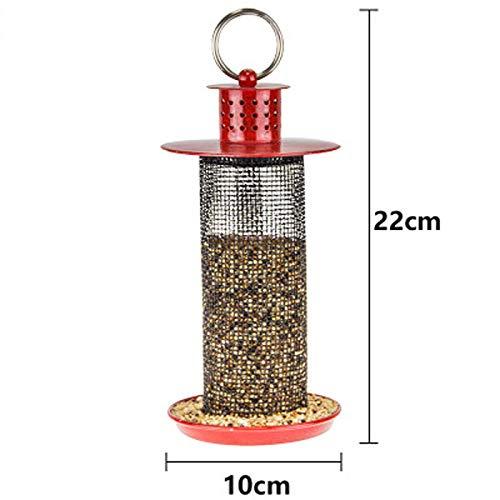 JXXDDQ Mangeoire à Oiseaux Simple Mini-Jardin en Plein air Matériel pour Abreuvoir en métal Sauvage