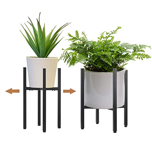 2 Pack Metal Plant Stand Indoor with Adjustable Width Fits 8 to 12 Inch...