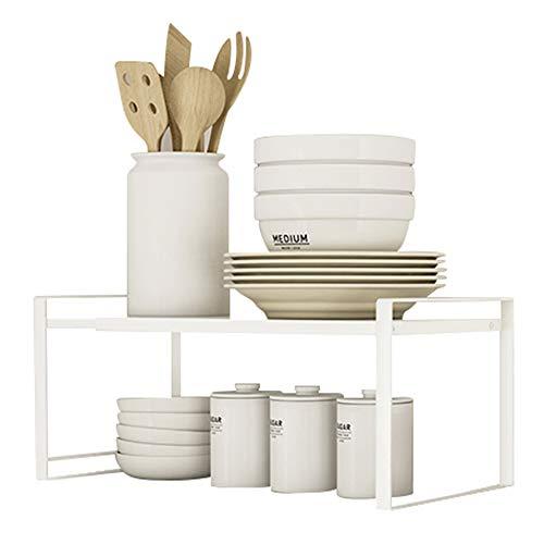 Taotigzu - Estante retráctil de esquina para armario de cocina, ahorra espacio para armarios de mostradores, guardabarros, alimentos y utensilios (ordenador)