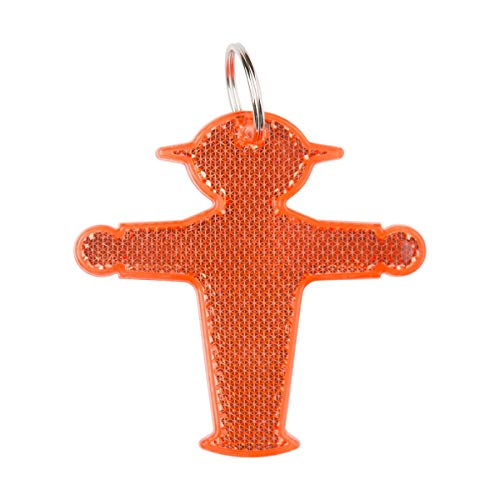 AMPELMANN Schlüsselanhänger Reflektor Erwachsene Kinder Strahlemann (Steher - Rot)