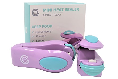 MINI HEAT SEALER (2 PACK) – PREMIUM SEALING FOR FOOD STORAGE, CHIPS, CANDY, SNACKS, GROCERIES, PLASTIC BAGS – PORTABLE SEAL AND RESEAL FOR AIRTIGHT LOCK CLOSURE – PROMOTES ELONGATION OF FOOD FRESHNESS
