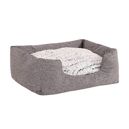 dibea DB00750, Hundebett mit wendbarem Hundekissen, 60 x 50 cm, grau (Farben/Größe wählbar) - 4