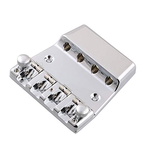 LYWS Saitenhalter für E-Bass, 4 Saiten, Zinklegierung, für Rickenbacker-Bass
