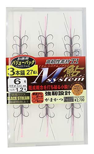 がまかつ(Gamakatsu) バリューパック T1 Mシステム鮎 ナノスムース 3本錨 A172 6-1.2