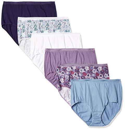 Hanes Signature Breathe Women s Cotton Brief Underwear 6-Pack, Assorted Colors, Large (7)