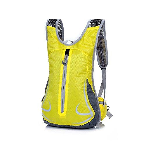 Freien Rucksäcke Unisex 14L Ultraleicht Fahrrad Reise Wander Sportrucksack, Wasserdicht Reiserucksack für Laufen Skifahren Camping Trekking Bergsteigen Radfahren Schultertaschen (Gelb)