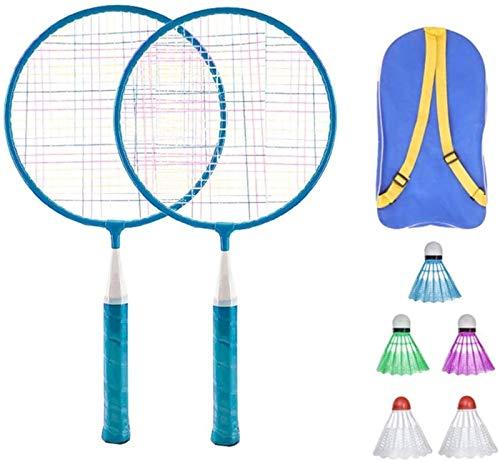 RENFEIYUAN Badmintonschläger Set Sports Badminton Schläger mit Balltasche Badminton Spielzeug für Kinder Kinder Badminton Sets (Color : Blue)