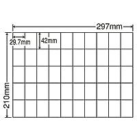 東洋印刷 シートカットラベル A4版 50面付(1ケース500シート) C50B