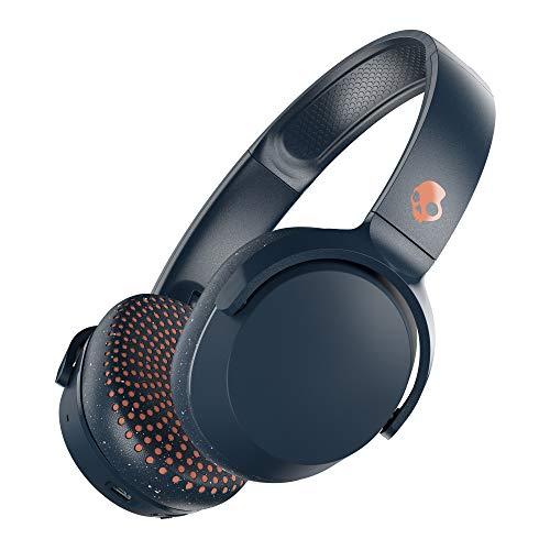 Skullcandy Riff On-Ear Kopfhörer, Mikrofon, Bluetooth, Schnellladefunktion 10h Batterielaufzeit, Faltbar, Weiches Strapazierfähiges Material, Blue