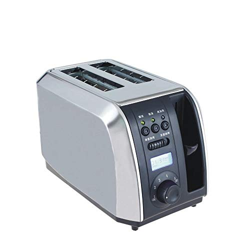 N / C 2 Slice Toaster, Extra Wide Slots Toasters, 5 Shade Settings, Led Display, Removable Crumb Tray, Pop Up Reheat Defrost Functions, for Kitchen.6.67.011.0in