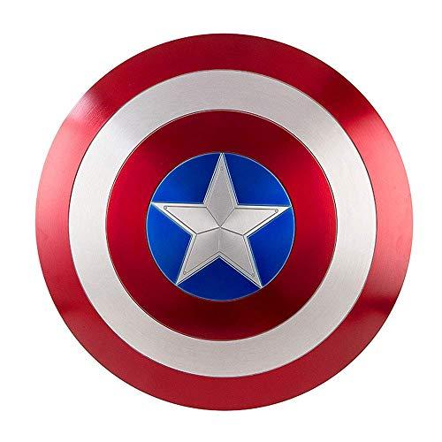 DMAR Escudo del Capitán América, Escudo De ABS Plástico de 57 cm, Serie Avengers Legends, Réplica De Marvel Prop