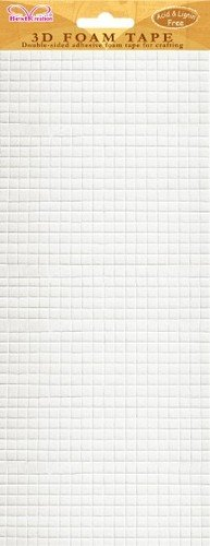 3D Foam Adhesive Tape Small Squares - 1 Sheet of 940 Squares