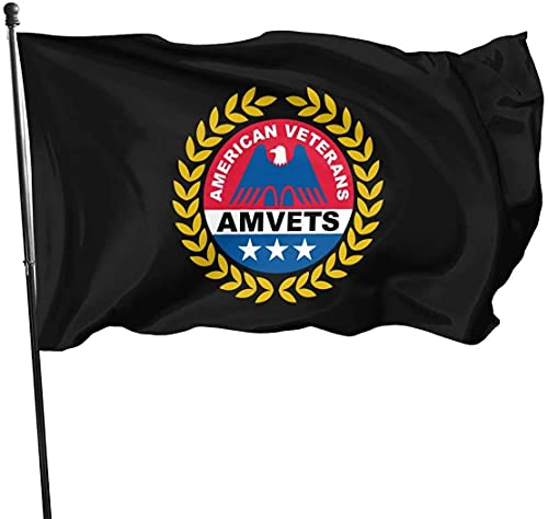 American Veterans Amvets 3 X 5 Ft Flag Decorative Garden Flags, Vivid Color, for Outdoor Indoor House Decor