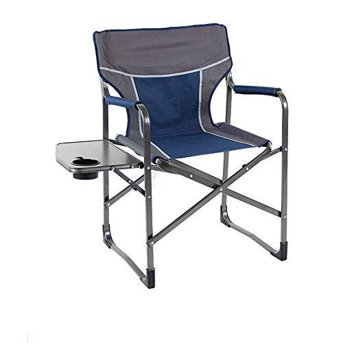 N/Z Tägliche Ausrüstung Angelhocker Tragbarer Regiestuhl Klappbarer Camping Angelgartenstühle Atmungsaktives Netz Aluminiumhalterung 300 lbs Beistelltisch Camping Sitz mit Tragetasche (Farbe: Orange)