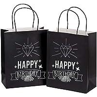 12-Pack Medium Size Happy Birthday Gift Bags (8