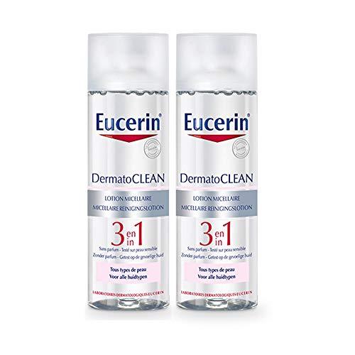 Eucerin DermatoCLEAN Lotion Micellaire 3 en 1, 2er Pack (2 x 400 ml)