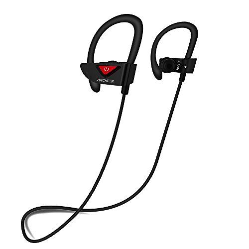 Price comparison product image ARCHEER AH17 Sweat-Proof Bluetooth Sports In-Ear Headphones with Mic and Soft Ear Hooks