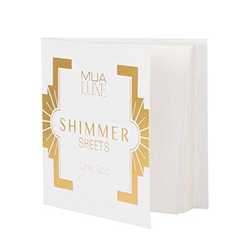 Mua Luxe–Shimmer–Hojas relieve, color blanco y dorado