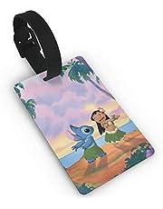 Etiquetas de equipaje de Lilo And Stitch para maleta de mano, etiqueta de identificación de viaje para equipaje
