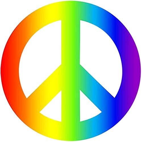 4 Pack Regenboog Vrede Teken Auto Decal Bumper Sticker Gay Pride LGBT Gay Lesbische Biseksuele Transgender Ondersteuning Auto Truck Boot RV SUV Van (Vrede)