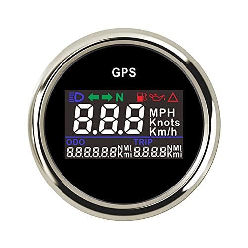 Manómetro Digital GPS Acabeómetro de velocímetro con caja de retroiluminación LED de 52 mm de calibre de velocidad para barcos yate motocicleta Coche 12V / 24V Grupo de calibre digital ( Color : BS )