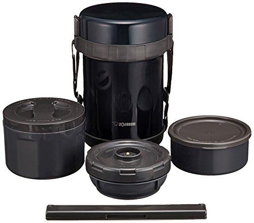 ZOJIRUSHI - Recipientes para Alimentos SL-GG18-BD de Acero Inoxidable, Color Azul Marino o Negro
