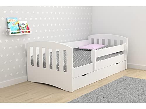 Children's Beds Home - Cama individual Classic 1 - Para Niños Niños Niño Niño Junior - Tamaño 180x80, Color Verde, Cajón Sí, Colchón 12 cm de Alta Resistencia Látex