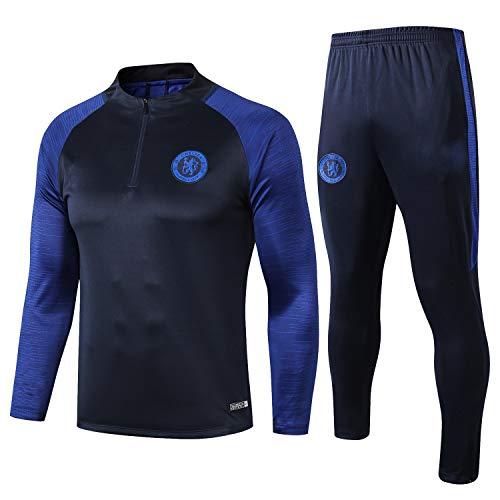 PARTAS Mens 2 Stück Sets Tracksuits Chelsea Football Wear Verein Uniform Langarm-Trainingsanzug Chelsea Wettbewerb Anzug (Size : M)