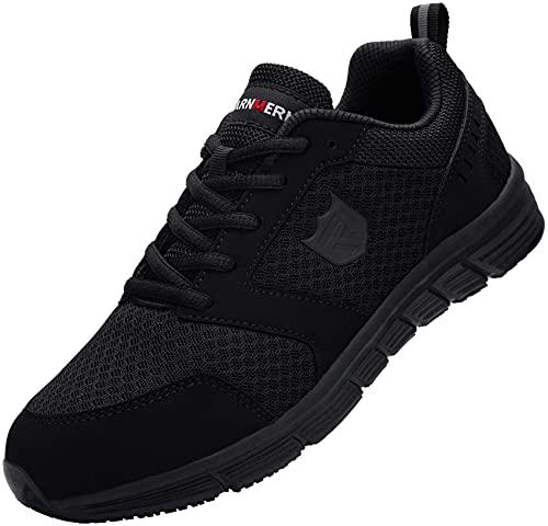 LARNMERN Zapatos de Seguridad Hombre SRC Anti-Deslizante Ligero Transpirable Calzado de Trabajo...