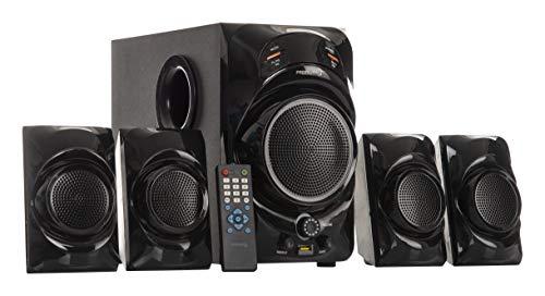 PremiumAV BT-4601 4.1 Channel Multimedia Speaker System with Remote (Black)