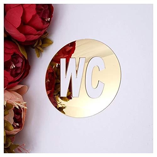 Shuzi 20 Stks WC Deurbord Spiegel Muurstickers Zelfklevende Acryl Sticker Voor Huisdecoratie Badkamer/Hotel/Kantoor/Restaurant Toilet Indicator Plaat Wc Sticker