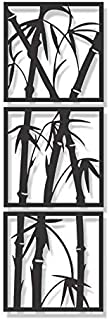 Wallcentre Metal Wall Art - Bamboo Tree Vertical for Living Room, Hall, Guest Room (Black)