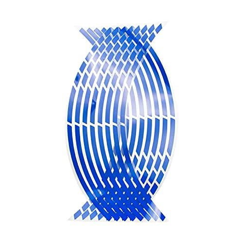ooege OOE Strips de Estilo de automóvil Pegatinas de Rueda de Motocicleta Reflectante de Motocross de Motocicleta 17/18 Pulgadas de Cinta Reflectante de rím (Color Name : Blue)