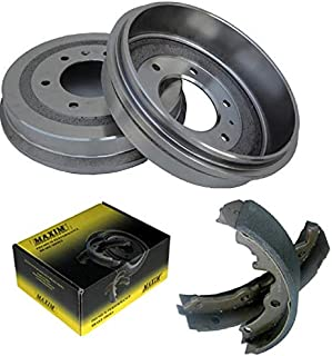Rear OE Spec Quiet Technology Drums and Perfect Fit Premium Brake Shoes BK50119 | Fits: Apollo Skylark Camaro Chevelle Chevy II El Camino G10 Van Malibu Monte Carlo Nova G1000 Series G15/G1500 Van G15